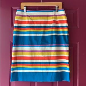 Women's Colorful Striped Skirt Size 10